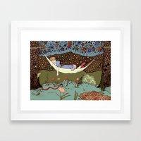 Liquid Forest Framed Art Print