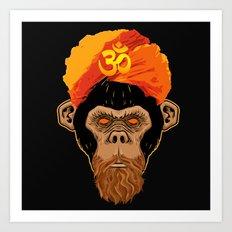 Stoned Monkey Art Print