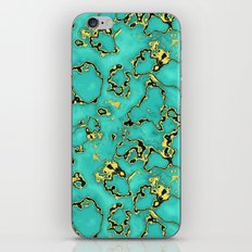 GOLD TURQUOISE iPhone & iPod Skin