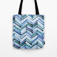 Cycladic Chevron Tote Bag