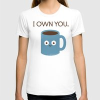 bunny T-shirts featuring Coffee Talk by David Olenick