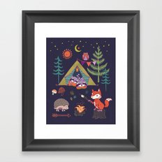 Racoon's Campout Framed Art Print