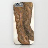 Watercolor Cowboy Boots iPhone 6 Slim Case