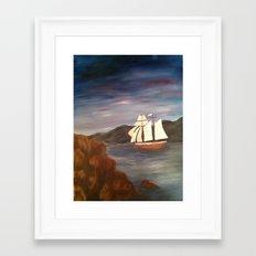 Sailing at Dusk Framed Art Print