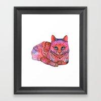 SUNSET CAT Framed Art Print