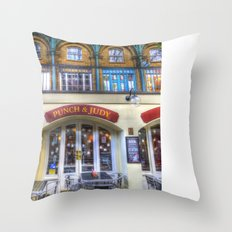 The Punch And Judy Pub Covent Garden Throw Pillow