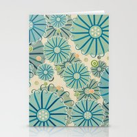 Retro Crazy Flowers Stationery Cards