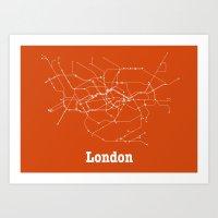 London Subway Poster - O… Art Print