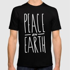 Peace on Earth Mens Fitted Tee Black SMALL