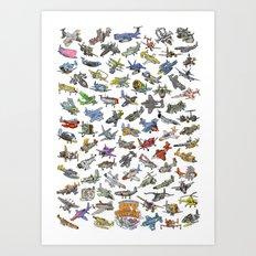 Sky Tusslers Art Print