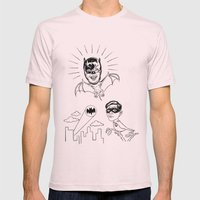 Holy Boastful Bat-man! Mens Fitted Tee Light Pink SMALL