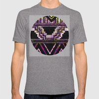 Native American Mens Fitted Tee Tri-Grey SMALL