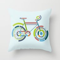 Throw Pillow featuring Bicyrcle by Lucas Scialabba :: P…