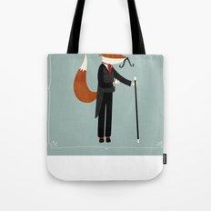 Mr Fox Takes a Stroll Tote Bag