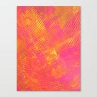Pink And Orange Stripes Canvas Print