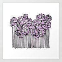 String Bouquet - Lavender Art Print