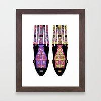 Psychedelic Tribe Framed Art Print