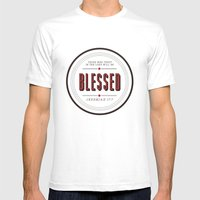 Blessed Mens Fitted Tee White SMALL