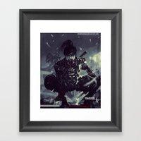 Darkfall Hanzo Exo Suit Framed Art Print
