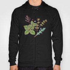 dark herbs pattern Hoody