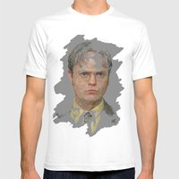 Dwight Schrute, The Office Mens Fitted Tee White SMALL