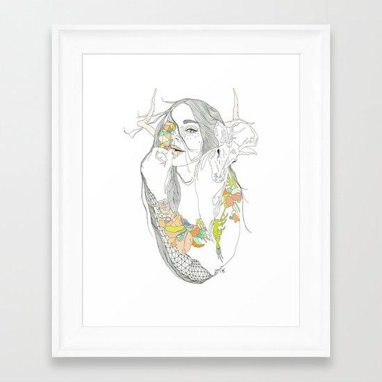 colour blind Framed Art Print