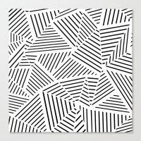 Ab Linear Zoom W Canvas Print