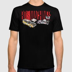 80's Machines Mens Fitted Tee Black SMALL