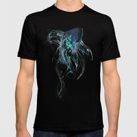 Ghost Fish Mens Fitted Tee Black SMALL