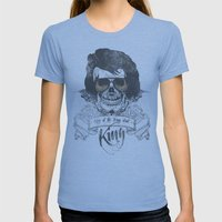 Elvis Presley | The King… Womens Fitted Tee Athletic Blue SMALL