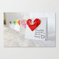 Friendship Comes from the Heart - Origami Canvas Print