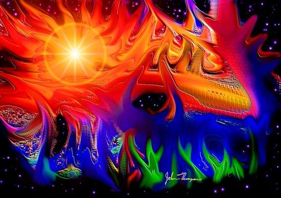 Cosmic colors Art Print
