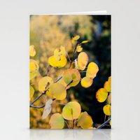 Golden Aspen Stationery Cards