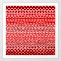 Mosaic Red Art Print