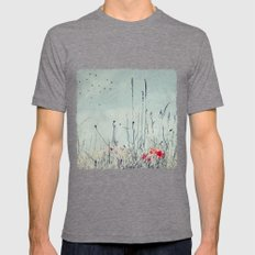 drY seaSon Mens Fitted Tee Tri-Grey SMALL