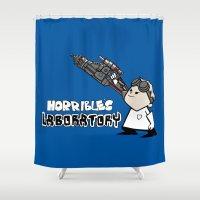 Horrible's Laboratory Shower Curtain