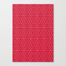giving hearts giving hope: red hex Canvas Print