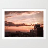 Dawn in the city Art Print