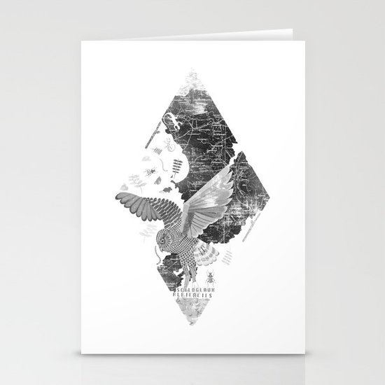 OWL MAP Stationery Card