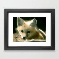 BLUE EYED FOX Framed Art Print
