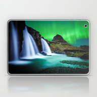 Aurora Borealis Waterfal… Laptop & iPad Skin