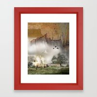Pig with Wings Framed Art Print
