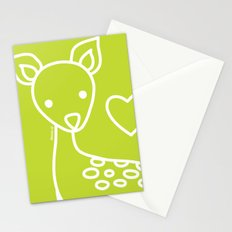 Green Deer Stationery Cards