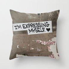 i'm expressing myself Throw Pillow