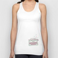 Cute hand drawn i love vintage typewriter illustration pattern Unisex Tank Top