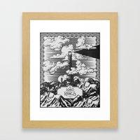 Lord of the Rings Mordor Tower Vintage Geek Art Framed Art Print