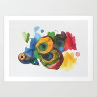 Colorful fish 3 Art Print