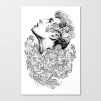 Facial explosion part 3 Canvas Print