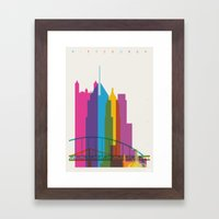 Shapes of Pittsburgh. Accurate to scale Framed Art Print