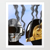 Daft Punk Deux Art Print